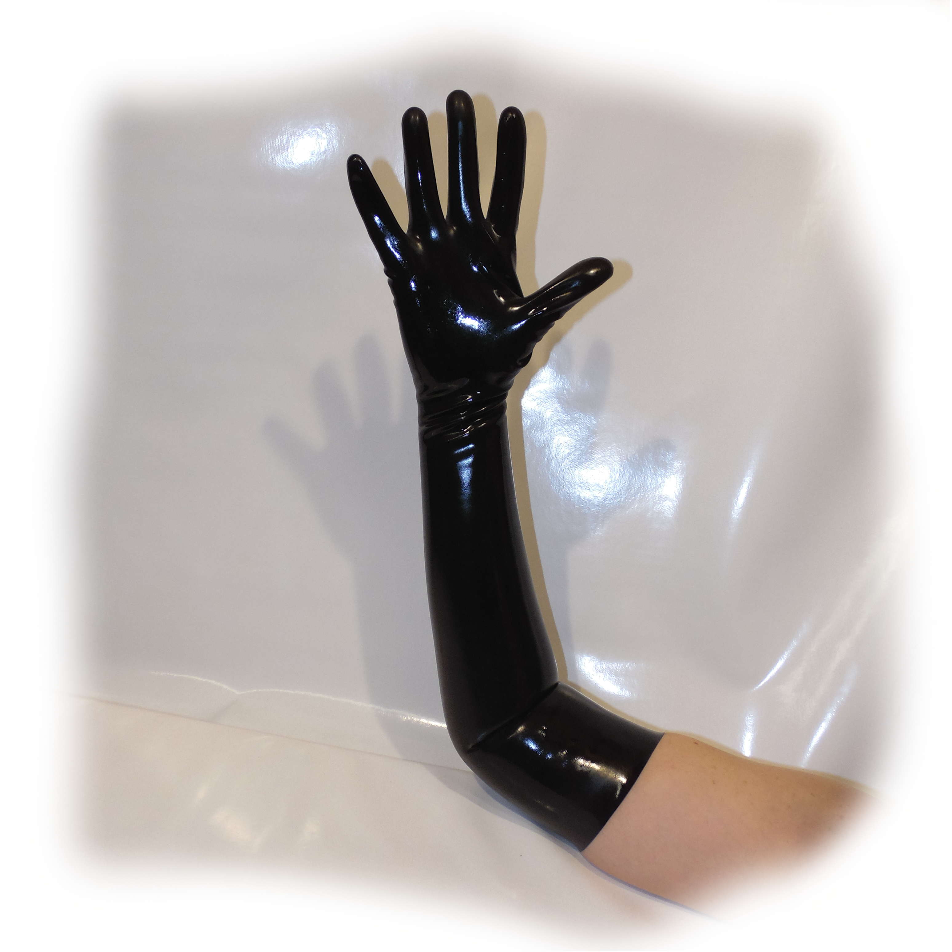 Latex Glove Schwarz extra heiß - 0,3 mm starkes Materia Size M (2015)